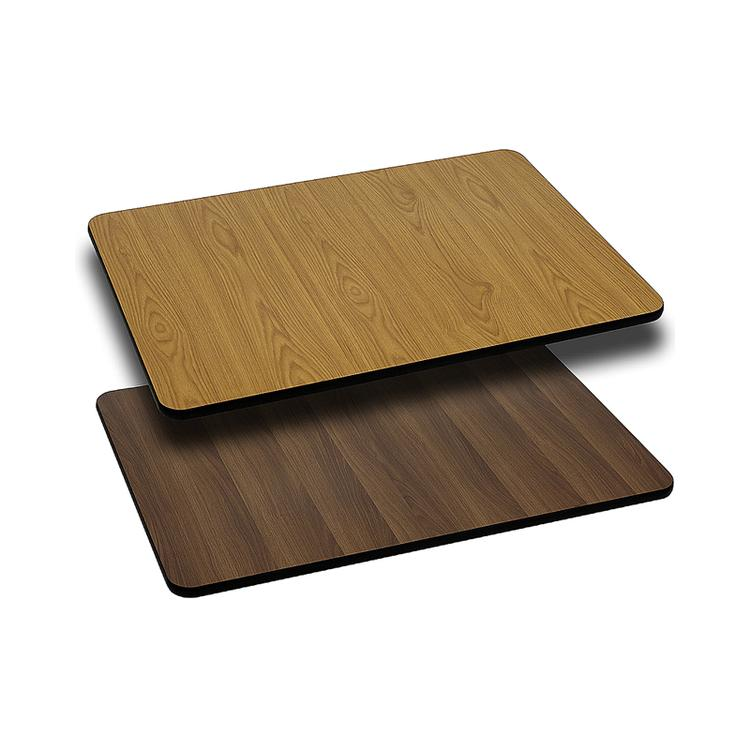 Flash Furniture Rectangular Table Top with Natural or Walnut Reversible Laminate Top (Top Only)