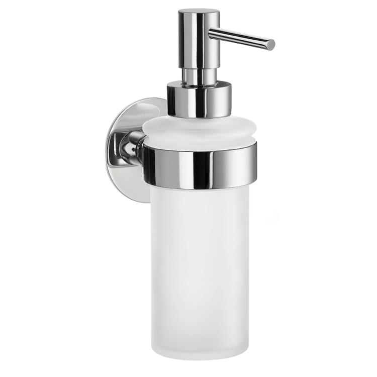 Time Holder With Frosted Glass Soap Pump