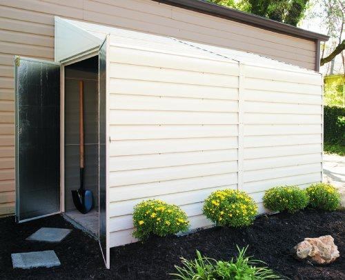 Arrow Sheds Yardsaver®, 4x10, Electro Galvanized Steel, Eggshell, Pent Gable, 62.5