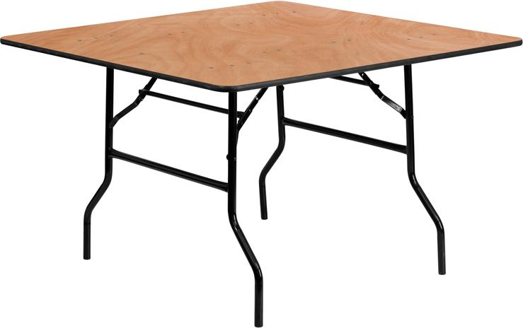 Square Wood Folding Banquet Table