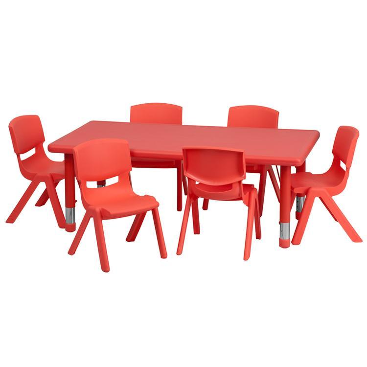 Rectangular Height Adjustable Activity Table Set