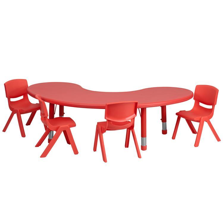 Flash Furniture Half-Moon Height Adjustable Activity Table Set