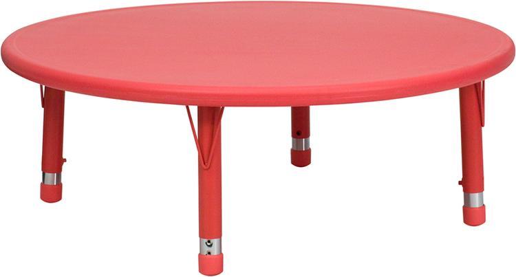 Round Height Adjustable Activity Table