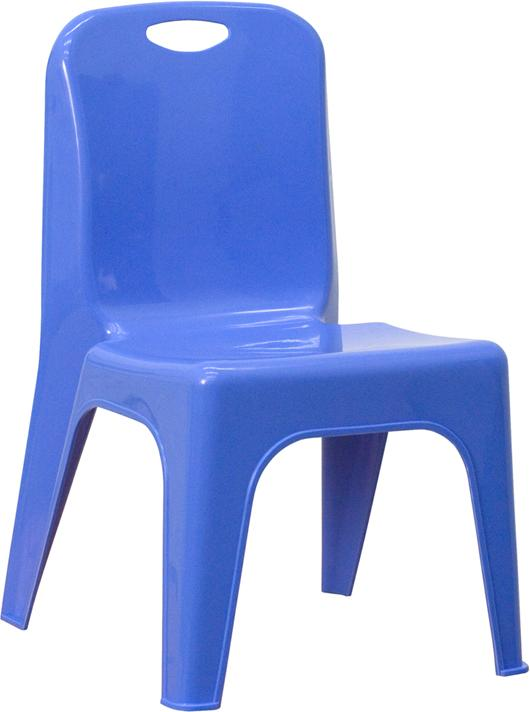 Stackable School Chair With Carrying Handle And 11'' Seat Height