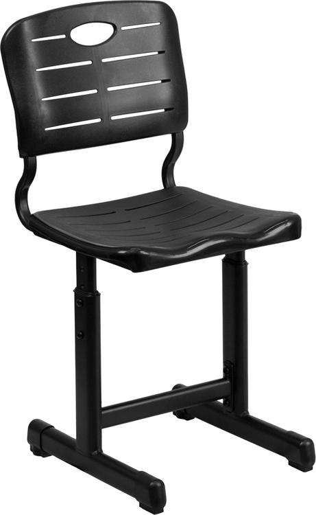Flash Furniture Adjustable Height Student Chair With Pedestal Frame