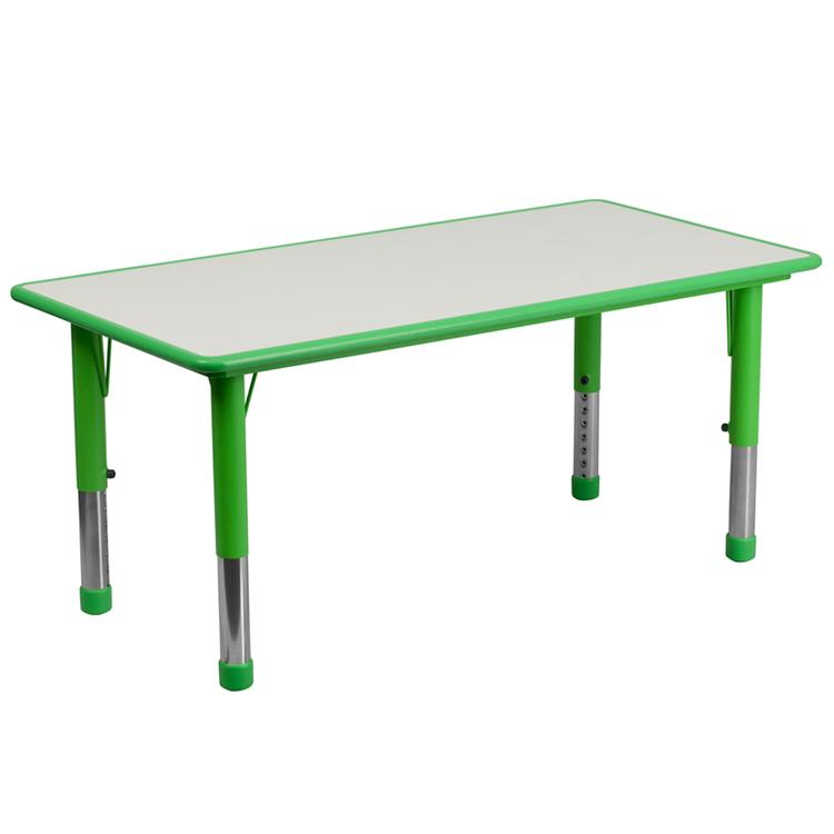 Flash Furniture Rectangular Height Adjustable Activity Table With Top