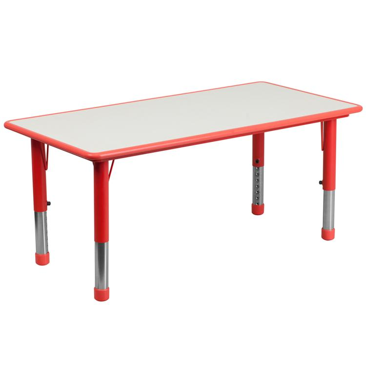 Rectangular Height Adjustable Activity Table With Top