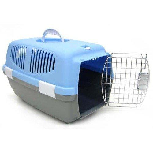 Large Plastic Carrier for Small Animal, Blue