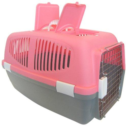 Medium Plastic Carrier for Small Animal, Pink
