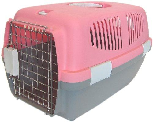 Small Plastic Carrier for Small Animal, Pink