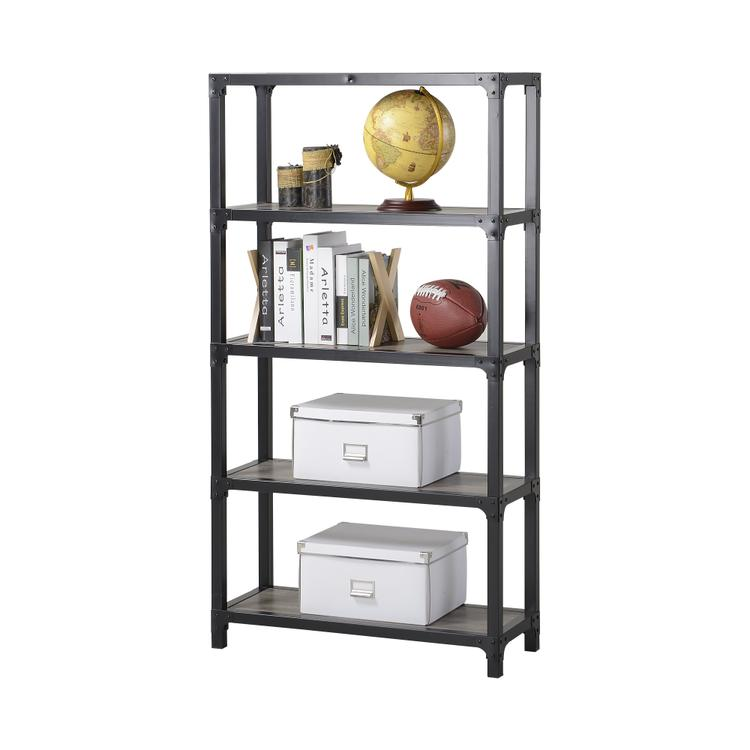 Homestar 4-Shelf Mixed Materials Bookshelf