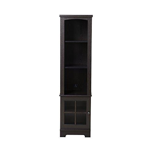 Homestar Zarate Bookcase/Media Storage Pier - Espresso