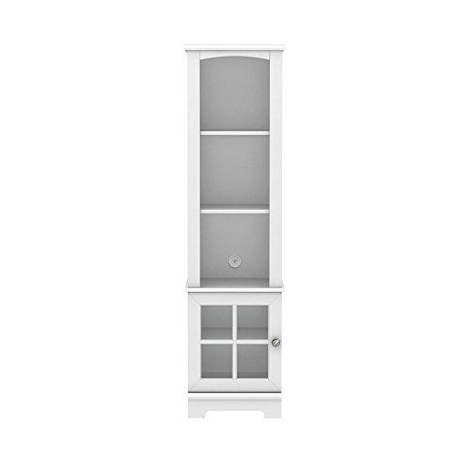 Homestar Zarate Bookcase/Media Storage Pier - White