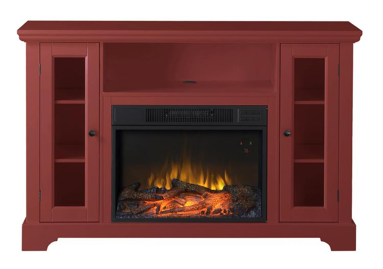 Queenston 51 in. Wide Media Fireplace