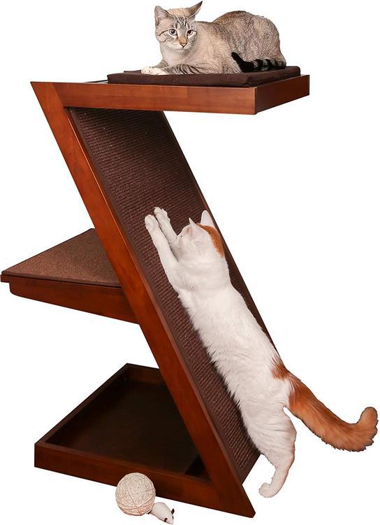Zen Cat Scratcher - Mahogany