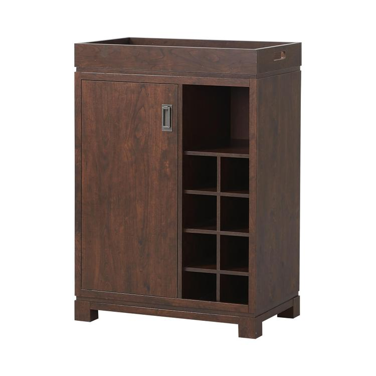 Wine Cabinet With Removable Tray in Brown [Item # ZH141191]