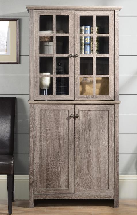 Homestar 2 Door Glass Storage Cabinet in Reclaimed Wood [Item # ZH141454]