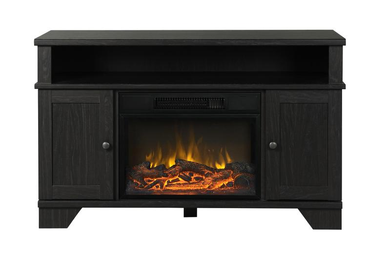 Hamilton 44.5 in. Wide Media Fireplace in Black Oak
