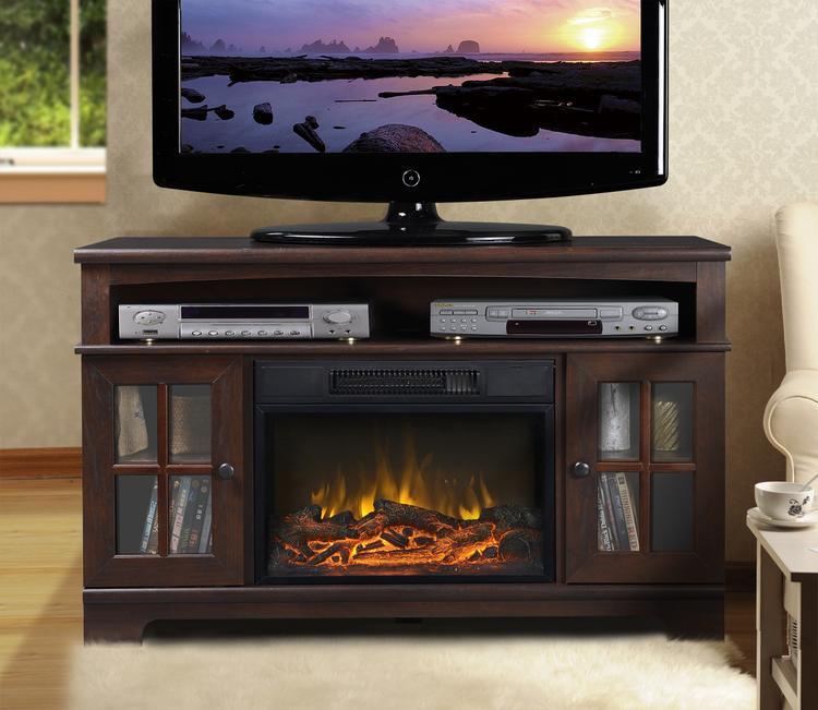 Zarate 44.5 in. Wide Media Fireplace