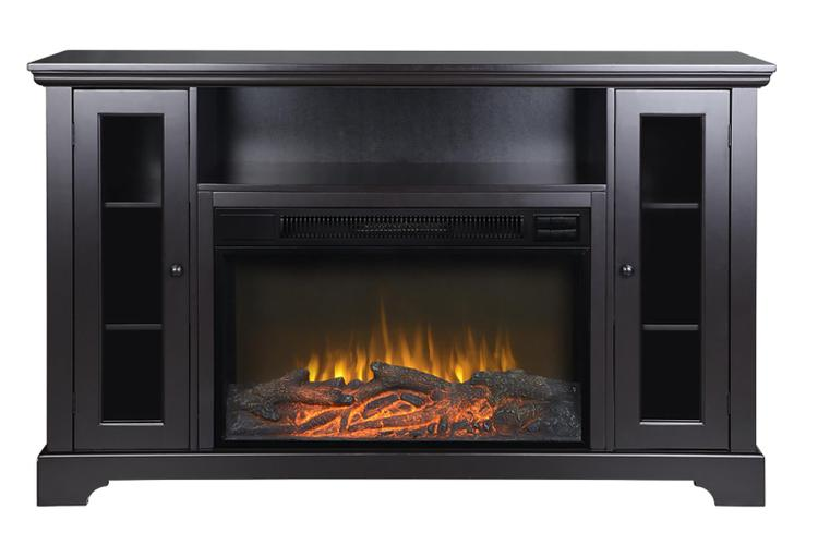 Kingwood 57 in. Wide Media Fireplace in Espresso