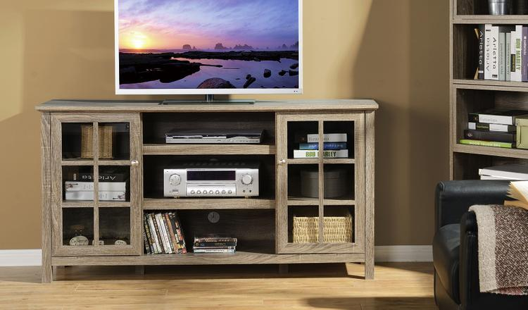 Provence 60 in. Wide Media Stand in Reclaimed Wood
