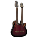 Ovation Celebrity Double Neck Ruby Red Burst Guitar