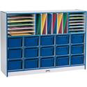 Sectional Mobile Cubbie With Trays