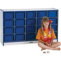 Rainbow Accents 20 Tray Mobile Cubbie Without Trays - Black