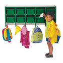 Rainbow Accents Coat Locker -large Wall Mount With Trays