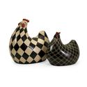 Set of 2 Herrick Black and White Chickens