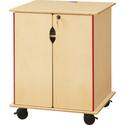 Wooden Presentation Cart - Lockable