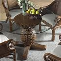 Cancun Palm Indoor Rattan & Wicker Pineapple Dining Table