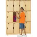 Stacking Lockable Lockers - Triple Stack