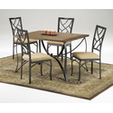 Sanford 5pc Wood/Metal Dinette