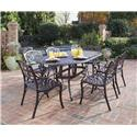 Home Styles Biscayne 7 Piece Dining Set With Table And Six Arm Chairs