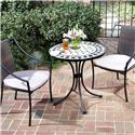 Home Styles 3 Piece Bistro Set With Fishtail Tile Bistro Table And 2 Laguna Slope Arm Chairs