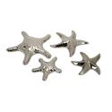 Set of 4 Cortland Silver Star Fish
