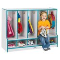 Toddler Coat Locker W/step - 5 Sections