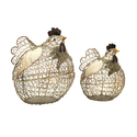 Set of 2 Elmore Wire Chickens
