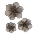 Set of 3 Astaire Flower Wall Decor Accents