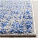 Contemporary Rug - Adirondack Polypropylene -Blue/Silver Style-A