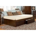 Atlantic Furniture Concord Platform Bed with 2 Flat Panel Footboards