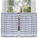 Buffalo Check Window Curtain Tier Pair