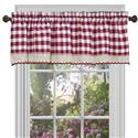 Buffalo Check Window Curtain Valance