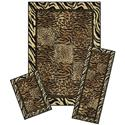 Capri 3 Piece Rug Set-Safari
