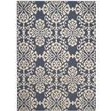 Transitional Rug - Cottage 87%Polypropylene12%Polyester -Navy/Creme