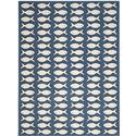 Transitional Rug - Courtyard 6000 Polypropylene -Navy/Beige