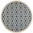 Contemporary Rug - Courtyard 6000 Polypropylene -Navy/Beige