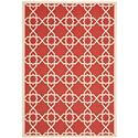 Transitional Rug - Courtyard 6000 Polypropylene -Red/Beige