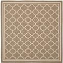 Transitional Rug - Courtyard 6000 Polypropylene -Brown/Bone